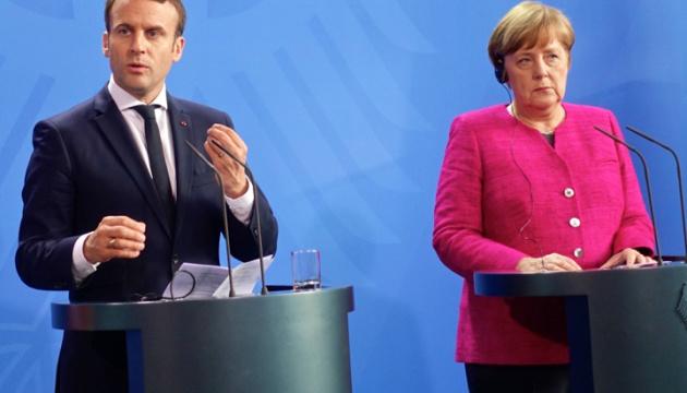 Merkel y Macron piden a Putin que ayude a estabilizar la situación en el este de Ucrania