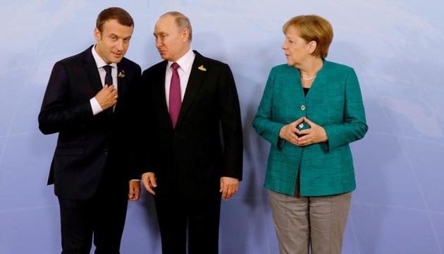 Merkel und Macron rufen Putin auf, zur Stabilisierung der Situation in Ostukraine beizutragen