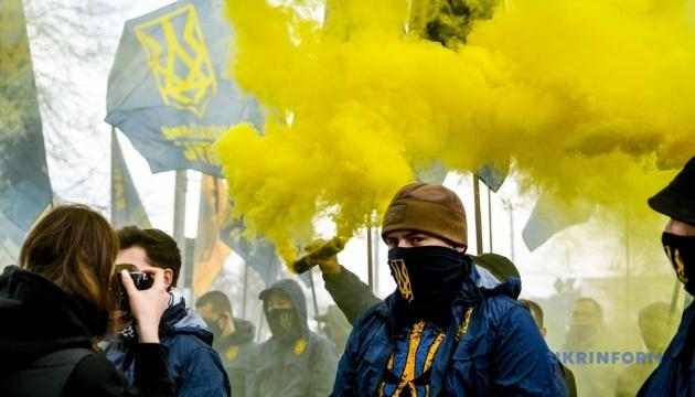 «Нет коллаборантам»: в Запорожье митинговали за принятие законов
