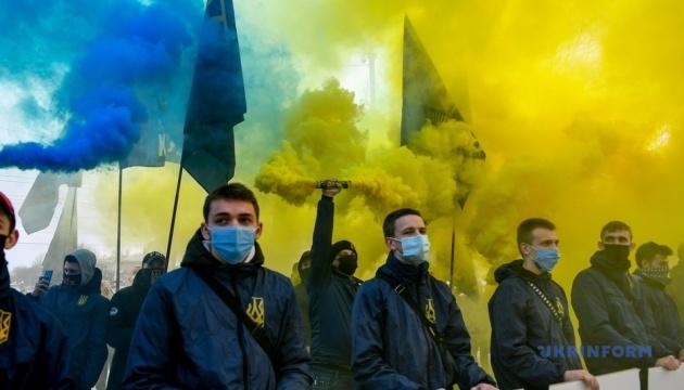 «Ні колаборантам»: у Запоріжжі мітингували за ухвалення законів