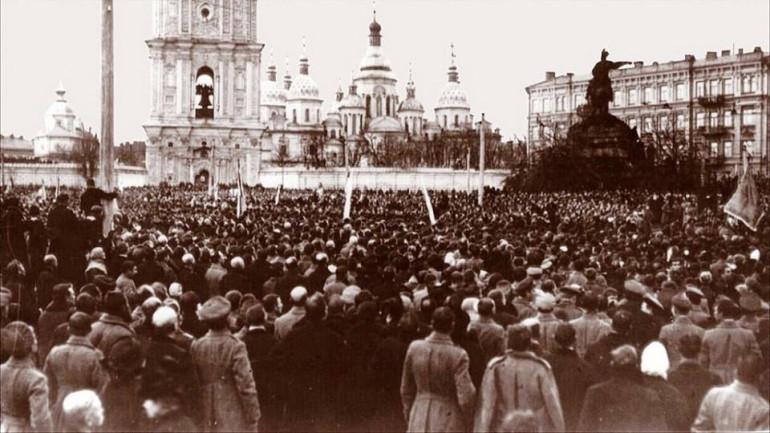 Мітинг на Софійській площі. 19 березня (ст. ст.) 1917 р.