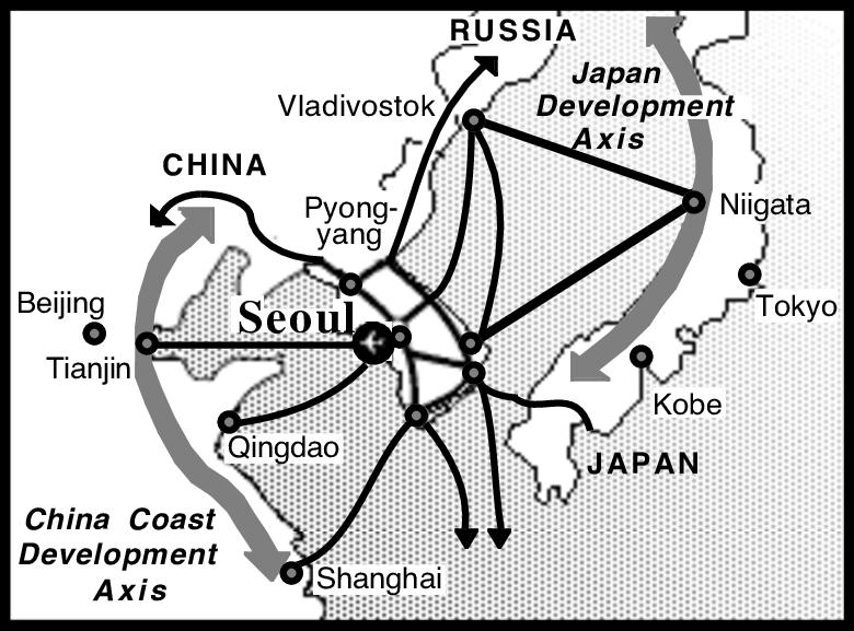 Уявне утворення світового міста за діаграмою Вороного (GVD), Сеул, Корея
