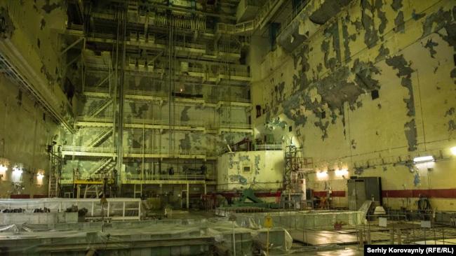 Реакторний зал першого енергоблоку ЧАЕС