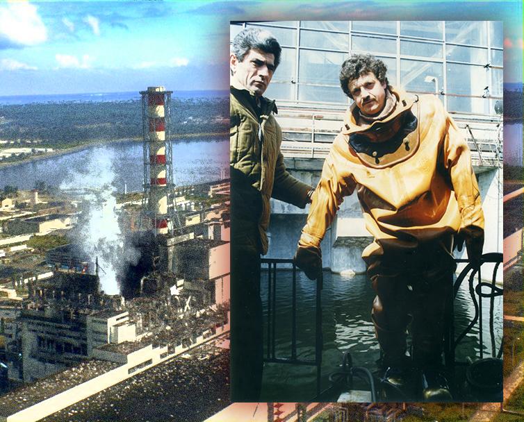 Микола Хрієнко перед спуском у воду на ЧАЕС