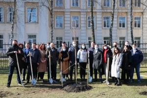 В Киеве высадили «Аллею единства»