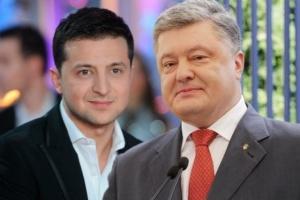 Na czele rankingu prezydenckiego stoi Wołodymyr Zełenski, a na drugim miejscu – Petro Poroszenko
