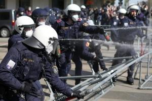 В Вене на карантинном протесте выписали сотни штрафов, есть задержанные