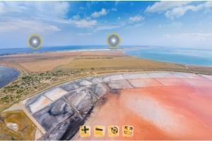 Туристичні локації Арабатської стрілки показали онлайн у 3D