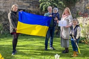 Українці Шотландії висадили калину та дерева магнолії