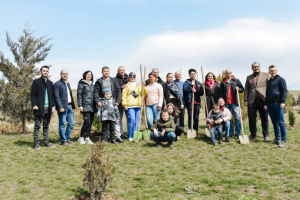 Українська громада Азербайджану висадила дерева у стародавньому місті