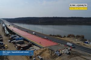 Укравтодор завершает ремонт моста через Хаджибейский лиман