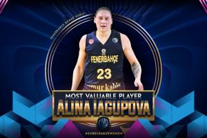 Українку Ягупову вдруге поспіль визнали MVP баскетбольної Євроліги