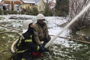 In Dolyna brennt ein Krankenhaus, 37 Menschen evakuiert