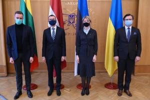 Außenminister von baltischen Staaten zu Gesprächen in Kyjiw angekommen