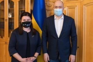 Маркарова перед отъездом в Вашингтон скоординировала задачи со Шмыгалем