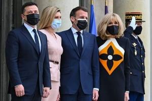 Брифінг президента Зеленського у Парижі