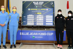 Остаточний рахунок тенісного матчу між Україною та Японією - 4:0