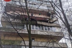 У київській дев'ятиповерхівці обвалився балкон