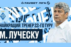 Луческу - найкращий тренер 22 туру чемпіонату України з футболу