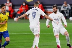 Ла Лига: «Реал Мадрид» временно возглавил таблицу после победы над «Кадисом»