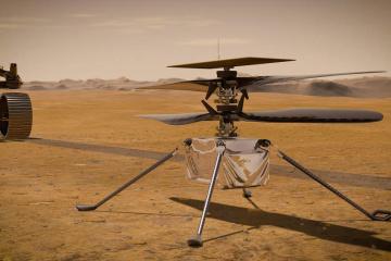 Політ гелікоптера NASA на Марсі показали у 3D