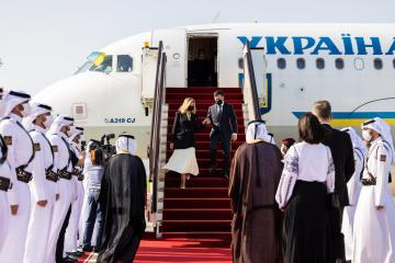 Präsident Selenskyj beginnt Staatsbesuch in Katar