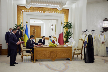 Volodymyr Zelensky : L'Ukraine et le Qatar ont signé 15 documents