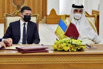 Ukrainian president meets with Emir of Qatar