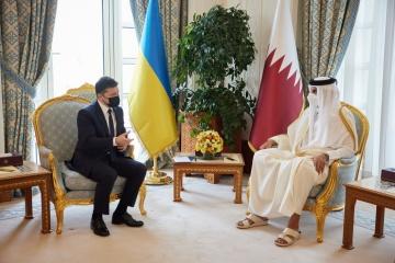 Volodymyr Zelensky s'est entretenu avec Tamim bin Hamad al-Thani