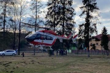 Luftrettung: Erster Rettungsflug in der Ukraine