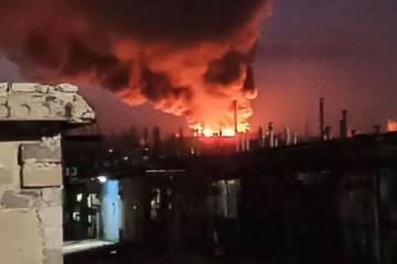 В оккупированном Донецке горит местный мясокомбинат