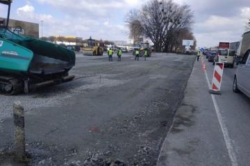 В столице начался ремонт участка Кольцевой дороги