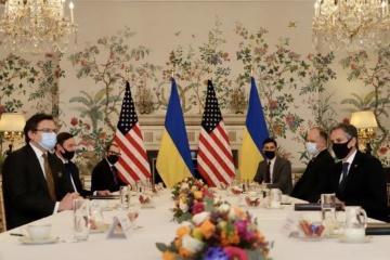 Ukraine's FM Kuleba meets with U.S. Secretary of State Blinken in Brussels