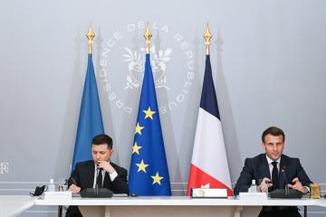 Макрон отмечает положительную динамику в отношениях между Украиной и Францией
