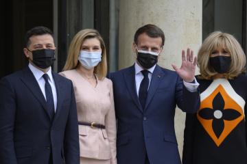 Macron zwrócił uwagę na pozytywną dynamikę w stosunkach między Ukrainą a Francją