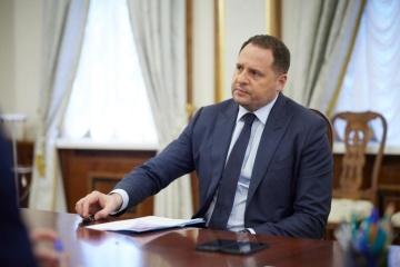 Yermak, Nuland discuss situation in Belarus