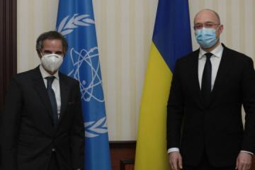 """Shmygal trata con el director general del OIEA energía """"verde"""" y Chornobyl"""