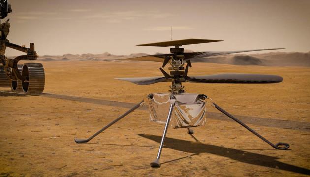 Мінігелікоптер NASA зробив першу кольорову світлину на Марсі