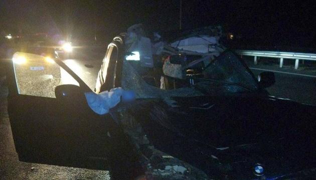 На Полтавщині BMW на смерть збив пішохода, травмована пасажирка