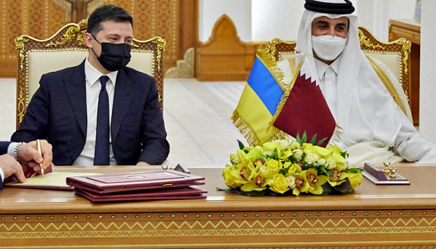 Ukrainian president meets with Emir of Qatar
