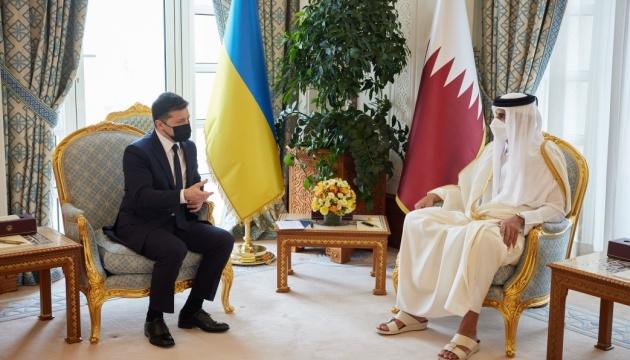 Treffen von Selenskyj mit Emir von Katar: Politischer Dialog, Handel und Investitionen im Mittelpunkt