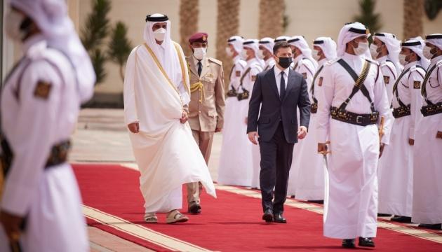 Зеленський: Відносини з Катаром вийдуть на новий рівень