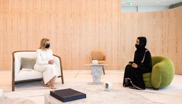 Олена Зеленська обговорила з шейхою Катару пандемію, освіту та культуру