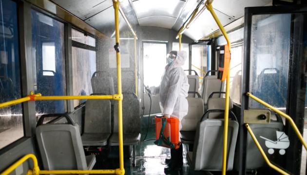 У громадському транспорті Києва проводять посилену дезінфекцію