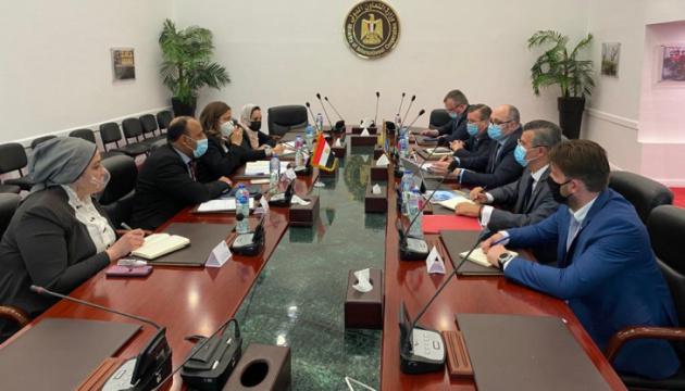 Die Ukraine und Ägypten erörtern Erhöhung des Handels und der Investitionen