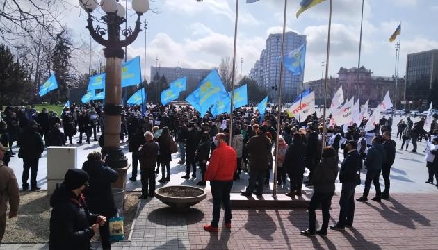 У Миколаєві підприємці протестують проти локдауну
