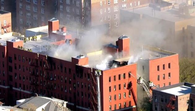 В Нью-Йорке горела многоэтажка, есть пострадавшие