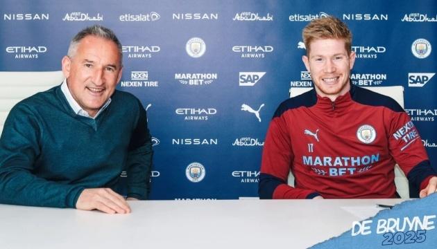 Де Брюйне подовжив контракт з «Манчестер Сіті» до 2025 року
