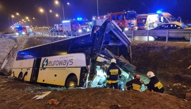 ДТП в Польше 22 марта: водитель украинского автобуса не признает вины