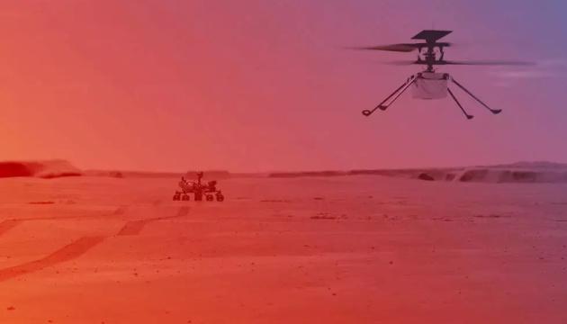 У NASA розповіли деталі першого польоту гелікоптера на Марсі